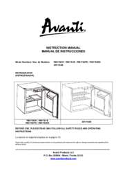 Instruction Manual: Model RM1760W - 1.7 CF Refrigerator - White