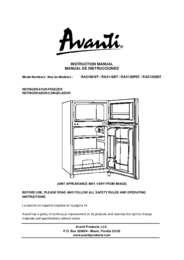 Instruction Manual: Model RA3106WT - 3.1 CF Two Door Counterhigh Refrigerator - White