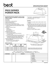 PK22 Series Specification Sheet 99045074B
