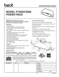 BEST P195ES70SB Specification Sheet 99045050A