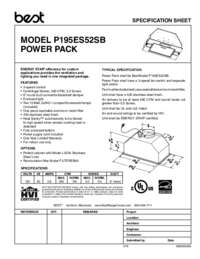 BEST P195ES52SB Specification Sheet 99045049A