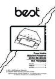 BEST P195ES52SB Installation Guide 99044997A