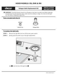 Installation Instructions EH_EHR_MH Light Bulb Installs
