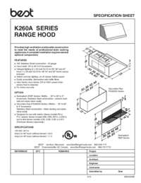 K260A Series Specification Sheet 99044049E