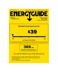 Click here to download the Energy Guide label for HP48RW models