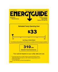 Click here to download the Energy Guide label for HP48RT models