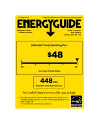 Click here to download the Energy Guide label for HP48FR models