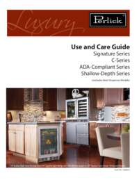 Signature Series Use and Care Guide