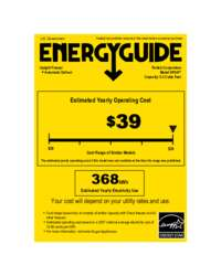 Click here to download the Energy Guide label for HP24F models