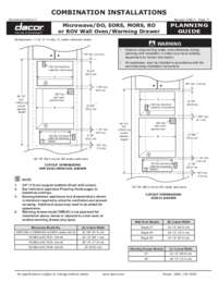 Combined Configuration Microwave - Wall Oven (DO-EOR-MOR-RO) - Warming Drawer