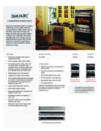 """30"""" Double Oven Quick Reference Guide"""