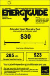 Energy Guide Labels: Energyguide_G5505_Futura_Dimension_Dimension-Plus_Diamond