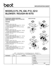P3 P6 iQ6 P12 iQ12 SPEC SHEET 99045209A