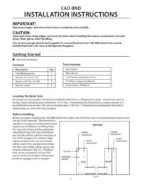 CAD-BND Installation