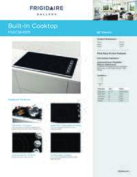 Product Specifications Sheet (English)