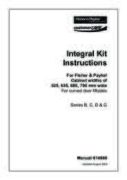 Integration Kit Instructions - Series B, C, D & G