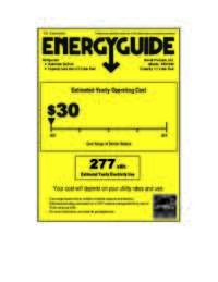Energy Guide Label: Model AR1754B - 1.7 CF All Refrigerator - Black