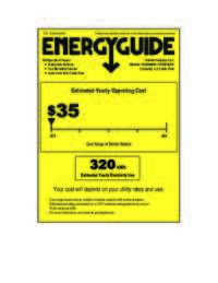 Energy Guide Label: Model FF45006W - 4.3 Cu. Ft. Frost Free Refrigerator / Freezer