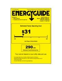 Energy Guide Label: Model RM1762PS - 1.7 CF Refrigerator - Black w/Platinum Finish Door