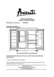 Instruction Manual: Model RMS550PS - SIDE-BY-SIDE Refrigerator/Freezer