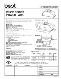 P195P Series Specification Sheet 99045017C