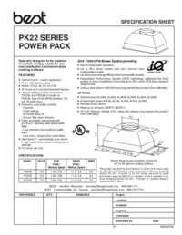 PK22 Series SPEC SHEET 99045074B