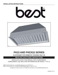 PK22 PKEX22 Series Installation Guide SV20827 rev.