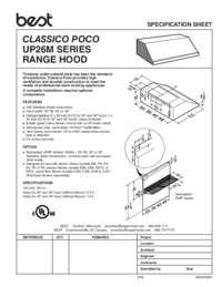 UP26M Series SPEC SHEET 99045206A