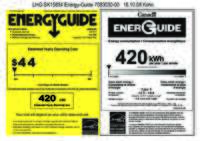 Energy Label CS 1311 + CS 1360