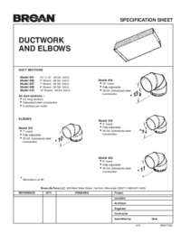 Ductwork Specification Sheet 99041120J