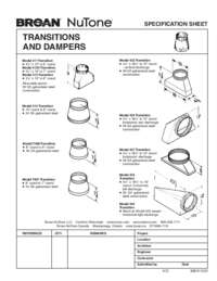 Transitions Dampers Specification Sheet 99041123V