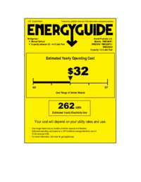 Energy Guide Label: Model RM3306W - 3.3 Cu. Ft. Refrigerator with Chiller Compartment - White