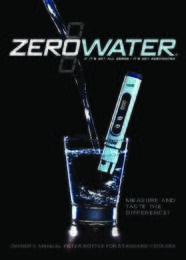 Instruction Manual: Model ZJ003-IS - The ZeroWater Water Bottle Kit