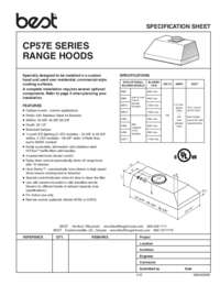 CP57E Specification Sheet 99045200B