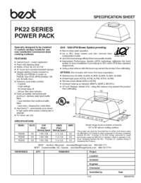 PK22 Specification Sheet 99045074C