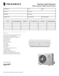 2014 Ductless Cassette Multizone Heat Pump Submittal