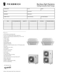 2014 Ductless Cassette Single Zone Heat Pump Submittal