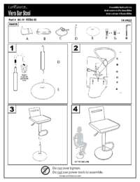 Viera Bar Stool Assembly Instructions