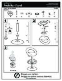 Posh Bar Stool Assembly Instructions