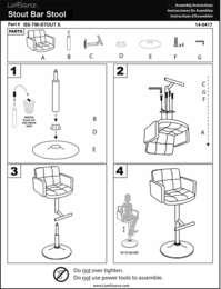 Stout Bar Stool Assembly Instructions