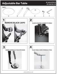 Adjustable Bar Table Assembly Instructions