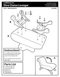 Diva Chase Lounger Assembly Instructions