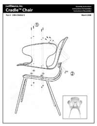 Acrylic Cradle Chair Assembly Instructions