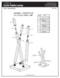 Icicle Table Lamp Assembly Instructions