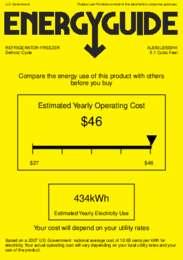 AL650LBISSHH Energy Guide