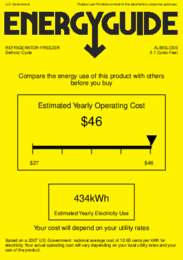 AL650LCSS Energy Guide