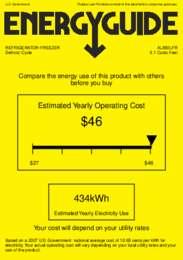 AL650LFR Energy Guide