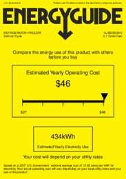 AL652BSSHV Energy Guide