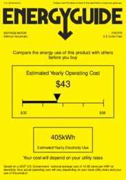 FF67FR Energy Guide