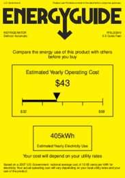 FF6LSSHV Energy Guide